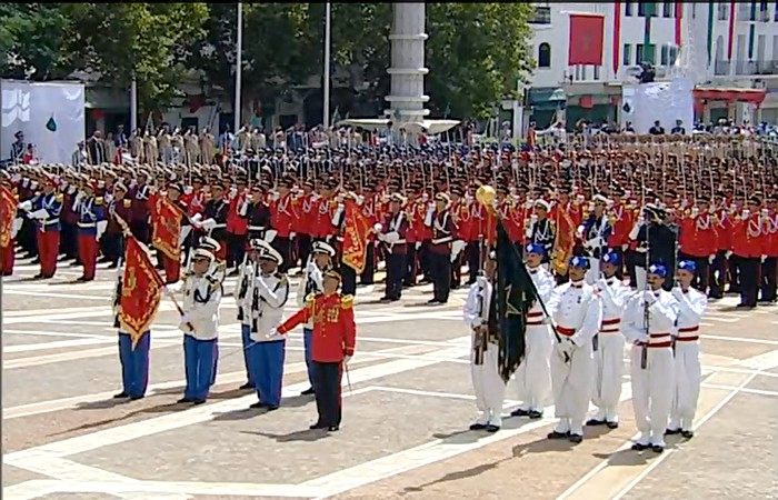 إستعراض عسكري جميل للقوات المسلحة الملكية المغربية